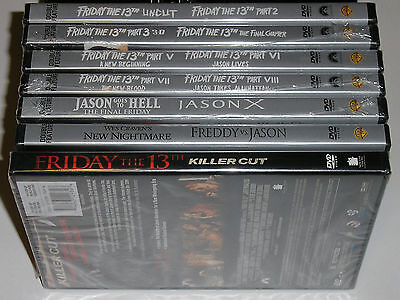 Horror DVD Lot - Friday the 13th Movie Collection (13 Disc Set, 11 New, 2 Used)