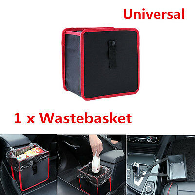 1xCar Can Litter Garbage Leak Proof Bin Wastebasket Holder Container Storage Box