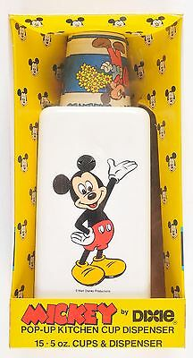 Walt Disney Mickey Mouse Dixie Cup Kitchen Dispenser 1986 New Old Stock