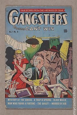 Gangsters Can't Win (1948) #6 VG- 3.5