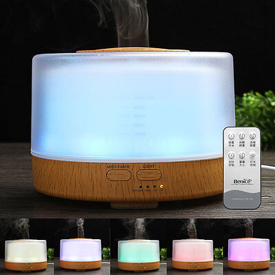 LED Aroma Ultrasonic Oil Essential Diffuser Humidifier Air Aromatherapy Purifier
