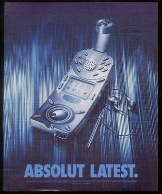 2003 Absolut Latest vodka bottle cell phone print ad