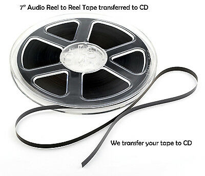 """7 inch Reel to Reel Audio Tape Transferred to CD ~ Transfer / Copy Service 1/4"""""""