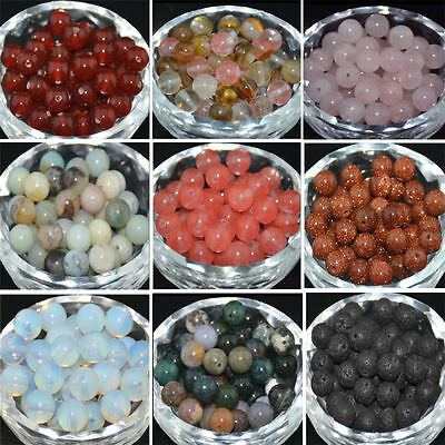 DIY Wholesale Natural Gemstone Round Spacer Loose Beads 4MM 6MM 8MM 10MM Lot
