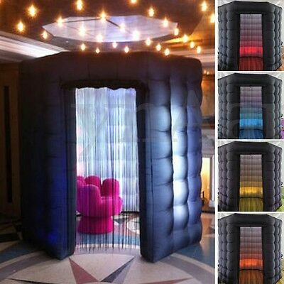 Octagon Professional LED Strip Inflatable Photo Booth Enclosure Tent 110V 1-Door