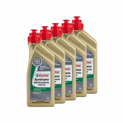 5 Litres Castrol Syntrans Multivehicle 75W90 API GL4 Fully Synthetic Gear Oil