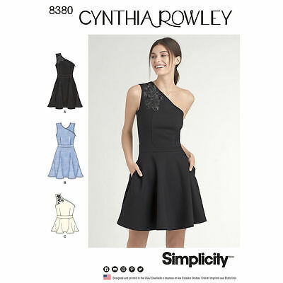 Simplicity SEWING PATTERN 8380 Misses Dress Or Top 4-12 Or 12-20