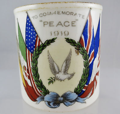 WWI From War to Peace Aynsley Child's Mug Tongwynlais Peace Celebrations 1919