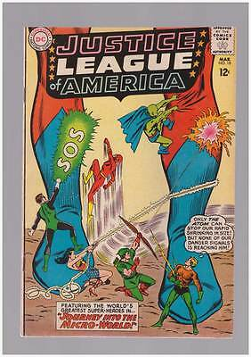 Justice League of America # 18  Into the Micro-World ! grade 5.0 scarce book !