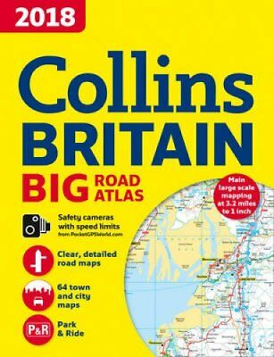 2018 Collins Big Road Atlas Britain by Collins Maps 9780008214609