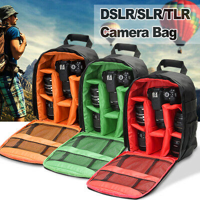 DSLR Camera Video Waterproof Backpack Shoulder Bag Case For Canon Nikon Sony