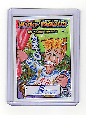 2017 Wacky Packages 50th Anniversary Go Dirt Marisol Henriquez Color Sketch Card