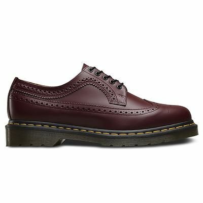 Dr.Martens 3989 5-Eyelet Cherry Mens Brogue Oxford Shoes Smooth Leather