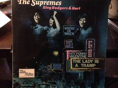 "* THE SUPREMES - Sing Rodgers & Hart - LP Record 12"" Album Vinyl 1967 TML11054"