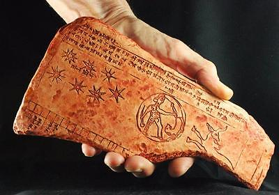 Babylonian Cuneiform Astronomical Almanac Tablet 200 BC historical replica