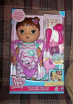 NEW Baby Alive Better Now Bailey Brunette Doll Dr Checkup Drinks Pees 6305093836
