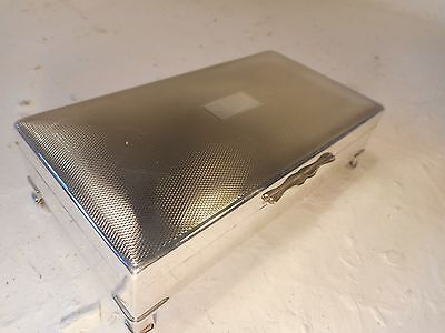Silver Plate Box , Cigarette Box    REF 3037