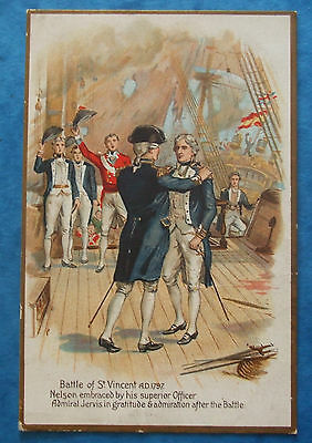 LORD NELSON NAVY Postcard c.1900-04 BATTLE OF ST.VINCENT A.D.1797