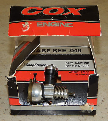 NOS Vintage Cox Babe Bee .049 R/C Model Toy Airplane Engine No. 350 New in Box