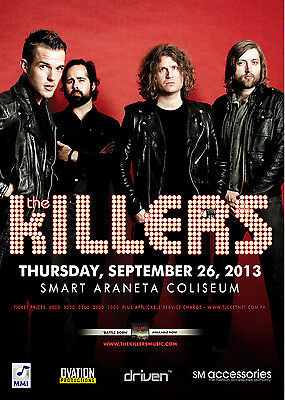 THE KILLERS 2013 MANILA CONCERT TOUR POSTER-Alt /Indie /Heartland Rock, New Wave