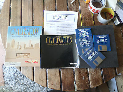Civilization by Microprose  Amiga boxed Game good/fair Condition booted