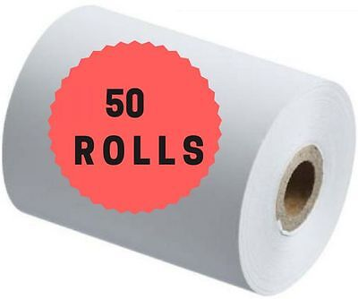 50 x EFTPOS/POS Thermal Receipt Paper Rolls 57.40.mm 50pcs/50pc/50x/50Pk pcs/Pk