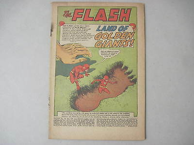 """The Flash #120 (Coverless) May 1961 Dc Comics """"land Of Golden Giants"""" Infantino"""