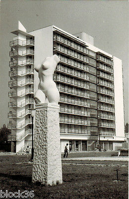 Hungarian card WOMAN'S TORSO at hotel in Budapest Sculpture by László Marton