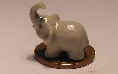 1:12 Scale Dolls House Miniature Ceramic Elephant Ornament Animal Pet Accessory