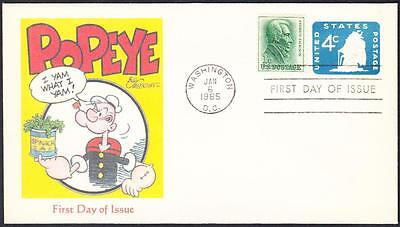 POPEYE THE SAILOR I YAM WHAT I YAM USS Constitutiuon Ship Envelope FDC 5 MADE