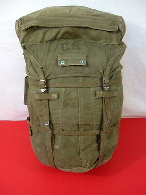 WWII Era US Army M1943 Canvas Jungle Combat Pack - OD Green - Original Complete