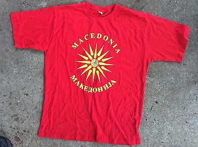 T-SHIRT MACEDONIA size XL cotton near new