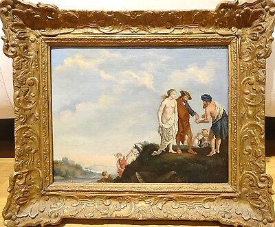 Fine 17th Century Flemish Old Master Traders Sex Slave Antique Oil Painting