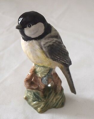 Rare Beswick Black capped chicadee  Gloss Bird Model 2189 1960s