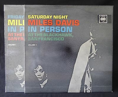 MILES DAVIS In Person Volume I + II Friday / Saturday UK 1st Press CBS LP NM