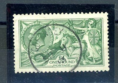Great Britain 1913  £1 Green  (SG 403) Superb c.d.s. very fine used   (J1182)