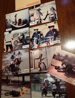 Lot - 9 Photos Cinema - Electra Glide In Blue (1973)Moto - Jeu A - Robert Blake