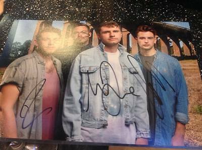 Lower Than Atlantis Mike Duce Band Hand Signed 12 X 8 Photo Coa Lta