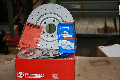 Sport Brake Discs Perforated with Abe and Ate Brake Pads Mazda 6 Set for Front