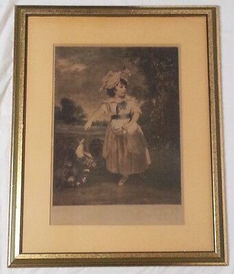 Rare Antique Engraved1782 Mezzotint-Clinton Smith-Sir J Reynolds Lady Catherine