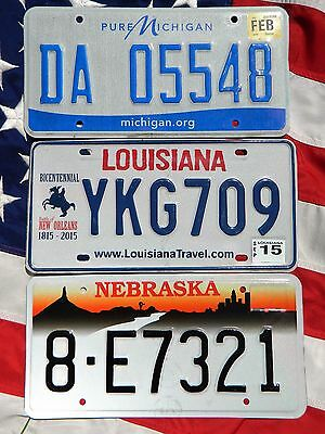 LOT OF 3 license licence plate plates USA NUMBER AMERICAN REGISTRATION LOUISIANA