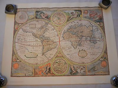 "Hammond Reproduced Map Of The Ancient World - 22"" X 16.5"
