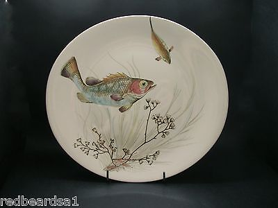 Johnson Bros Vintage China Fish Design Dinner Plate #2 England c1950s