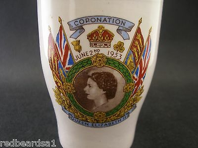 Ridgway Queen Elizabeth ll Coronation 1953 Commemorative China Beaker Cup