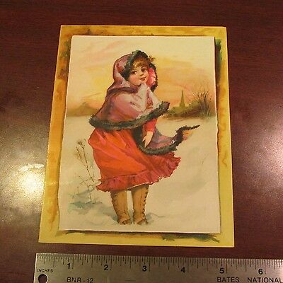 1890s Woolson Spice Lion Coffee Christmas Advertising Trade Card