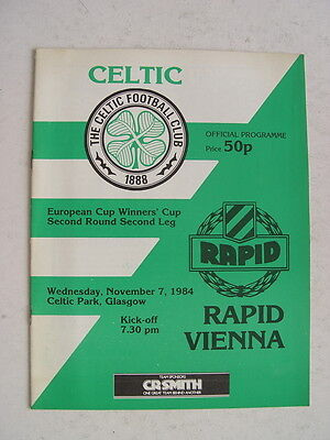 Celtic v Rapid Vienna 1984/85 Cup Winners Cup