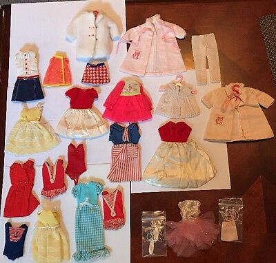 HTF 1960-70's Vintage Skipper Doll Clothes & Accessories 20+ Pieces Mixed
