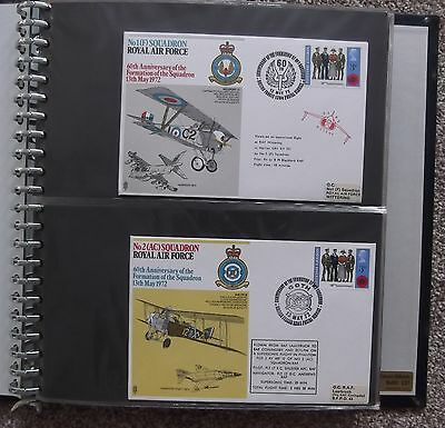 (941) Album of 51 1970s RAF Commemorative First Day Covers