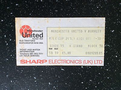 Manchester United v Burnley 1984-85