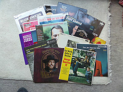 Job Lot of Vintage VINYL LP ALBUMS x 15 Country & Western Music VARIOUS MIXTURE